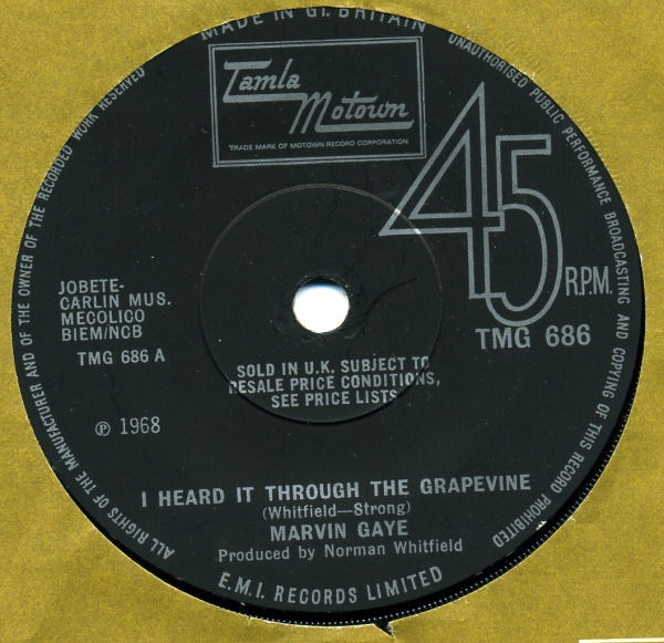 Marvin Gaye - I Heard It Through The Grapevine / Need Somebody