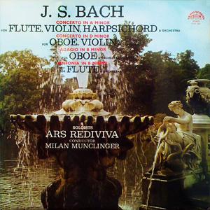 J. S. Bach / Ars Rediviva, Milan Munclinger - Concertos, Adagio, Sinfonia
