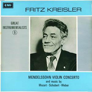 Fritz Kreisler ?? Mendelssohn - Mendelssohn Violin Concerto