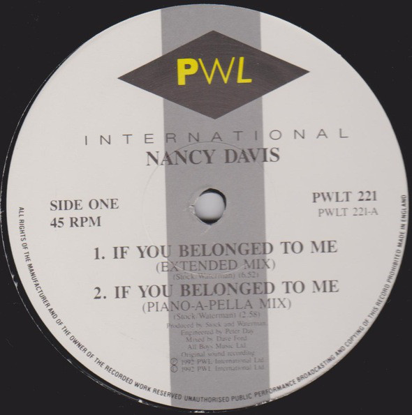 Nancy Davis - If You Belonged To Me
