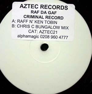Raff Da Gaff - Criminal Record