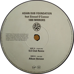 ASIAN DUB FOUNDATION FEAT SINEAD O'CONNOR - 1000 Mirrors - 12 inch x 1