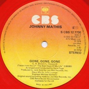 Johnny Mathis - Gone, Gone, Gone