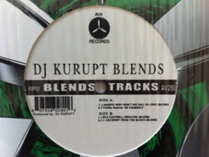 DJ KURUPT - Blends Tracks - 12 inch x 1