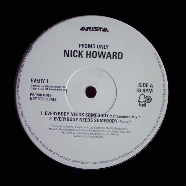 Nick Howard - Everybody Needs Somebody