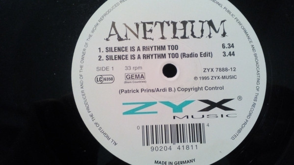 ANETHUM - SILENCE IS A RHYTHM TOO /I Can Make You See God