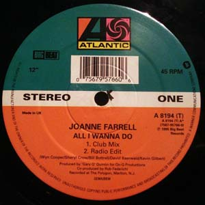JOANNE FARRELL - All I Wanna Do - 12 inch x 1