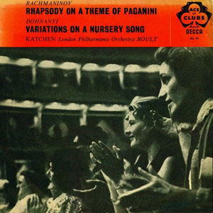 Rachmaninov / Dohnanyi  -  Sir Adrian Boult - Rhapsody On A Theme Of Paganini /Nursery Song