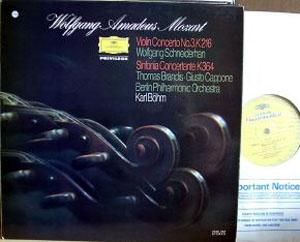 Mozart - Berlin Phil. Orch. - Karl Bohm? - Violin Conc. No. 3, K 216 / Sinfonia Conc. K364