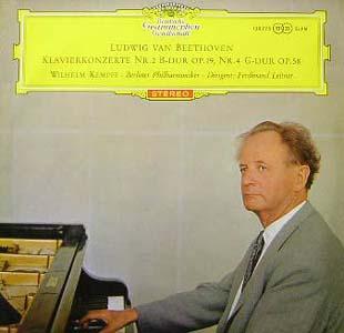Beethoven - Wilhelm Kempff -Berliner Phil. - Klavierkonzerte Nr. 2 B-dur Op. 19, Nr. 4 G-dur