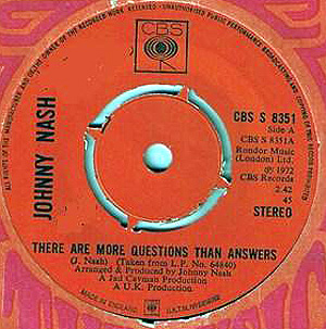 Johnny Nash - There Are More Questions Than Answers