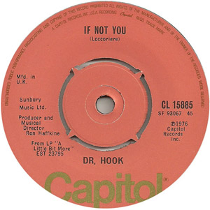 Dr. Hook - If Not You / Up On The Mountain