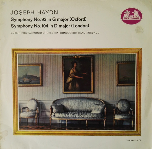 Haydn - Berlin Phil.- Hans Rosbaud - Symp. No 92 G Major / No. 104 D Major