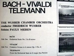 Bach Vivalsi Telemann - Freidrich Wuhrer Chamber Orchestra