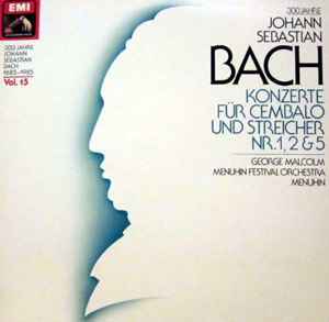 Bach - Menuhin Fest Orch. George Malcolm - Konzerte Fur Cembalo