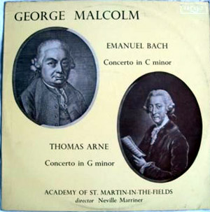 GEORGE MALCOLM  - Arne/CPE Bach - Concertos