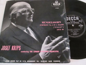 MENDELSSOHN - JOSEF KRIPS - LSO - SYMPHONY No. 4 IN A MAJOR (ITALIAN) OPUS 90