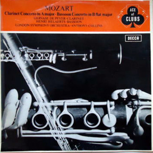 MOZART  - LSO -ANTHONY COLLINS - CLARINET CONCERTO IN A MAJOR (K.622)