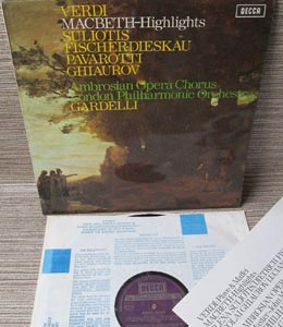 PAVAROTTI / FISCHER-DIESKAU / SULIOTIS / GHIAUROV - Verdi Macbeth
