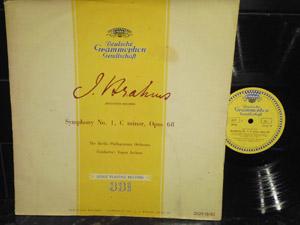 BRAHMS - BERLIN PHILHARMONIE ORC. - ENGEN JOEHUM - SYMPHONY NO 1