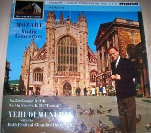 Mozart - Yehudi Menuhin - Bath Fest Orch. - Violin Concertos Nos 3 and 5