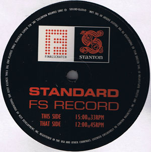 No Artist - Stanton Final Scratch Control Record Standard Vers