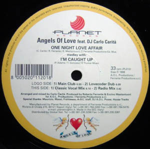 Angels Of Love Feat DJ Carlo Carit\xE0 - One Night Love Affair (medley With I'm Caught Up) CD