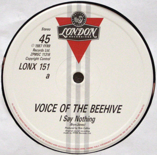 Voice Of The Beehive - I Say Nothing