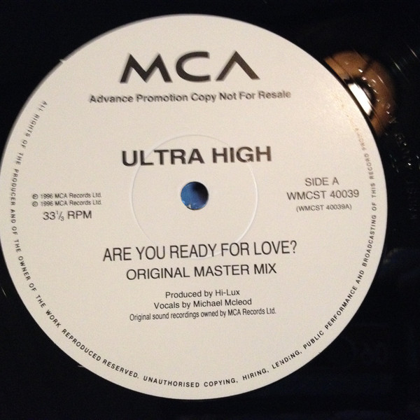 Ultra High - Are You Ready For Love