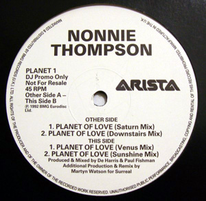 Nonnie Thompson - Planet Of Love