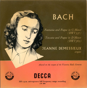 Bach - Jeanne Demessieux - Fantasia And Fugue In G Minor