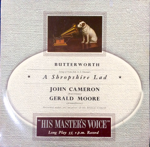 Butterworth - John Cameron - Gerald Moore - A Shropshire Lad