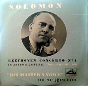 Beethoven - Solomon - Andr? Cluytens -  Concerto No.4 In G Flat Major, Op. 58