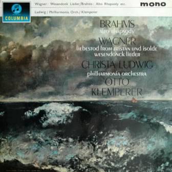 BRAHMS/ WAGNER -  Alto Rhapsody/ Liebestod, Westendonck Lieder