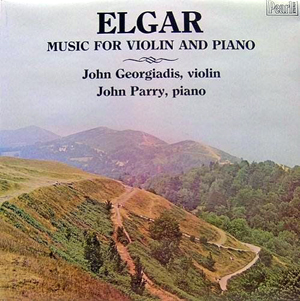 Elgar- John Georgiadis, John Parry - Music For Violin And Piano
