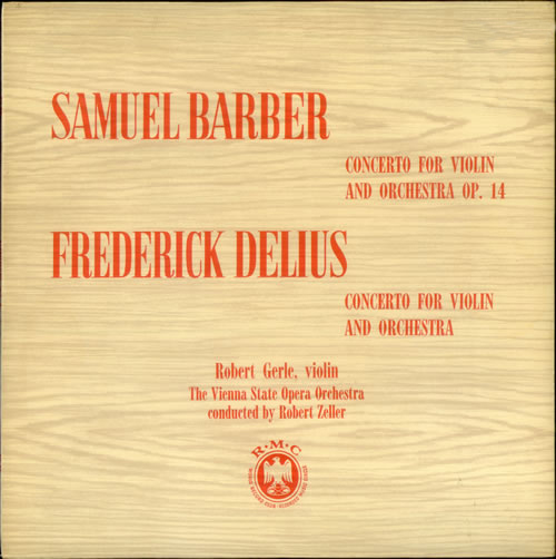 Samuel Barber, Frederick Delius - Concerto For Violin And Orchestra Op. 14
