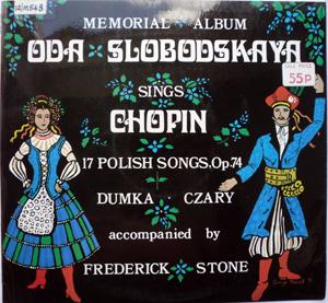 Oda Clobodskaya - Frederick Stone - Chopin - 17 Polish Songs