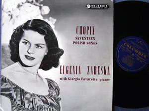 Chopin - Eugenia Zareska - Seventeen Polish Songs , Op. 74