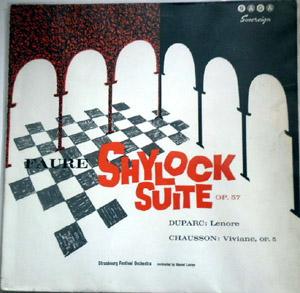 Faure, Duparc, Chausson - Marcel Levine - Shylock suite op57 - Lenore - Viviane