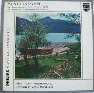 Mendelssohn - New York Phil. - Mitropolous - Scotch Symp. -  Reformation Symp.