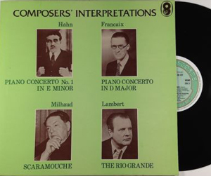 Magna Tagliafero, Marcelle Meyer - Composers? Interpretations