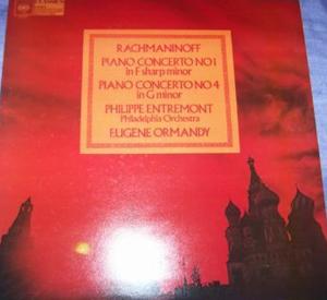 RACHMANINOV - ENTREMONT - ORMANDY - PHILADELPHIA - Piano Concertos 1, 4