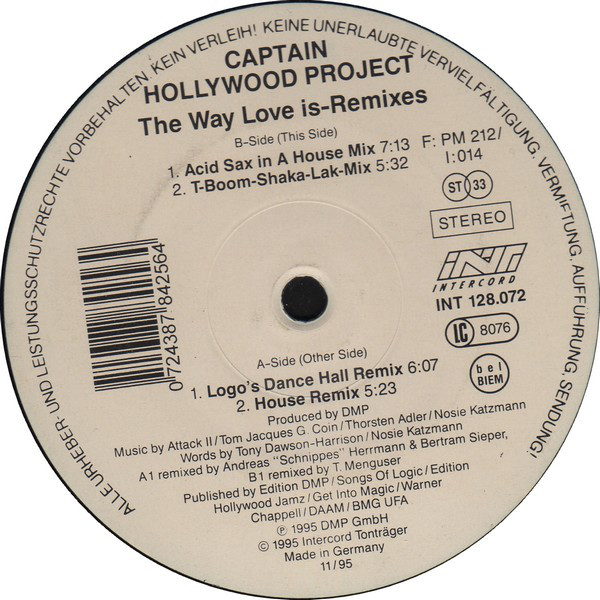 Captain Hollywood Project - The Way Love Is (Remixes)