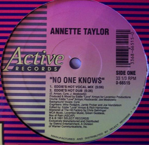 ANNETTE TAYLOR - No One Knows