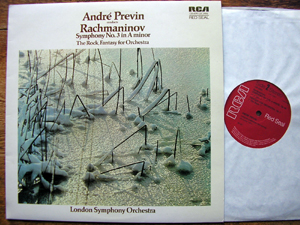 RACHMANINOV: - Andre Previn LSO - SYMPHONY  No. 3  /  THE  ROCK