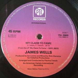 James Wells - My Claim To Fame