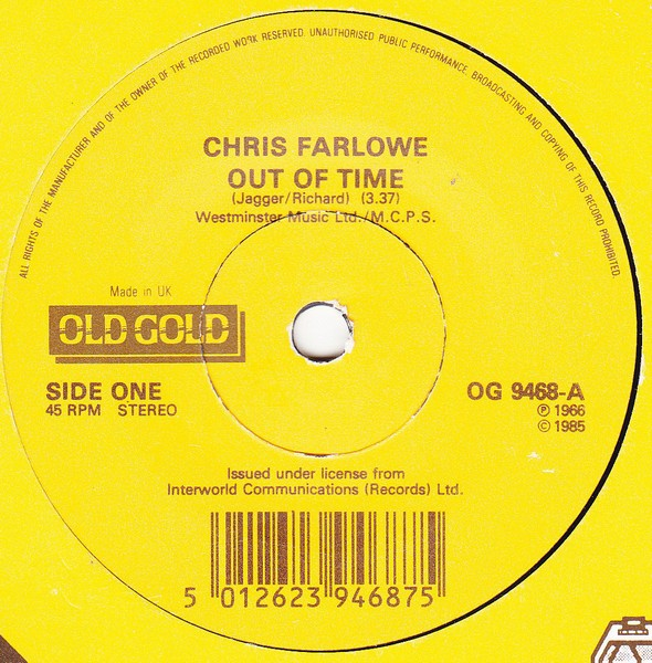 Chris Farlowe - Out Of Time / Think