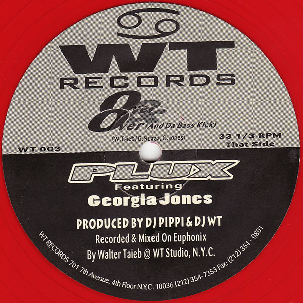 PLUX feat GEORGIA JONES - OVER AND OVER / FANTASY (RED DISC)