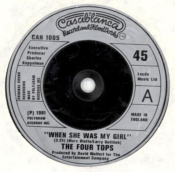 Four Tops, The - When She Was My Girl