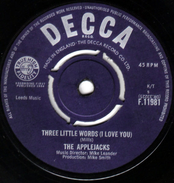 Applejacks, The ? - Three Little Words (I Love You)